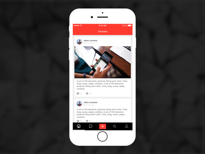 Timeline social projects chat feed iphone apps uiux ios timeline