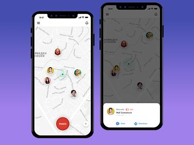Location Sharing App + Panic Button maps gps sos panic button location sharing app ios