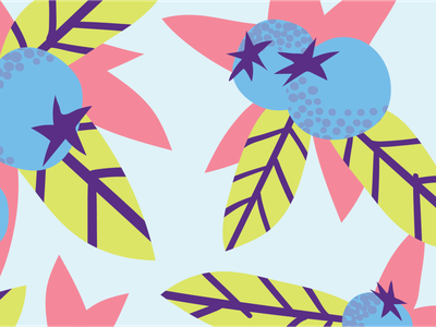 Bloobs fruity blue illustration package design fruit blueberry