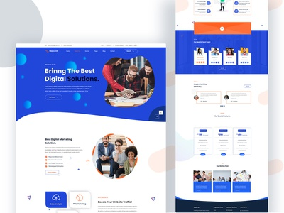 Marcent - Digital Marketing Agency Jpj Template ui design corporate company cleaning business agency