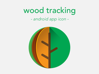 wood tracking android app icon