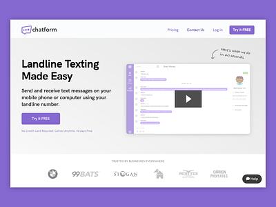 Chatform Homepage Revamp homepage ux ui design
