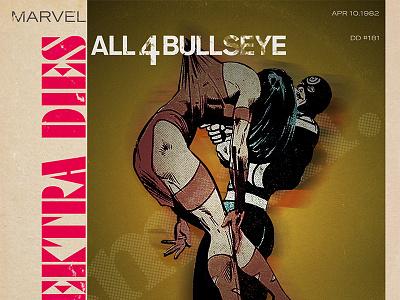Marvel Blue Note Records - Elektra typography illustration design