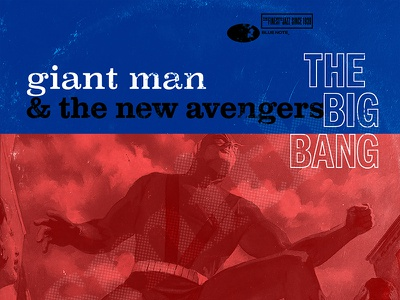 Marvel Blue Note Records - Giant Man typography illustration design