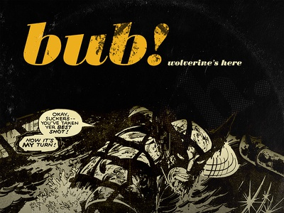 Marvel Blue Note Records - Wolverine typography illustration design