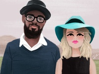 Illustrated Couple