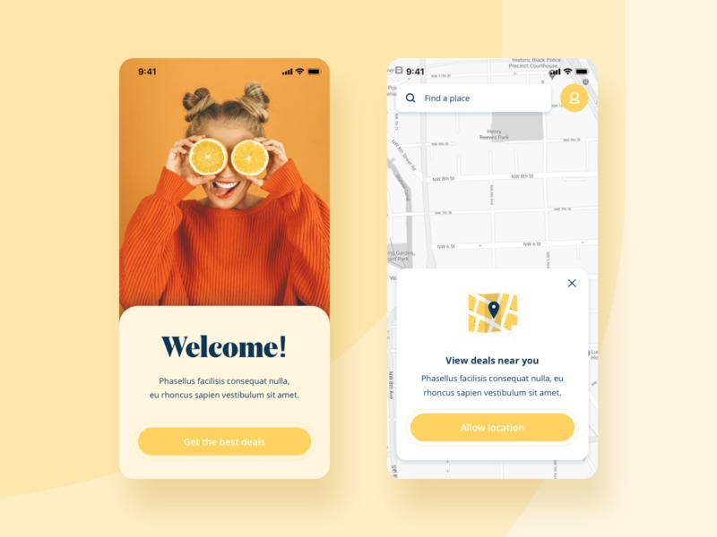 Mobile App UI daily ui app designer 2020 trends deals welcome map ui app product design mobile ui app design
