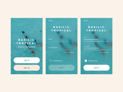 #002 Daily UI challenge - sign in
