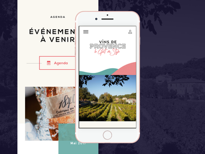 Vins de Provence - Mobile provence ux ui carousel french wine slider home page website mobile