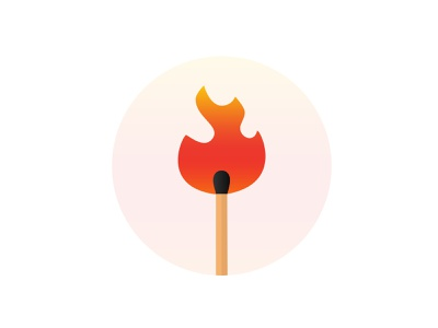 Match Flame Illustration logo matches flame logo illustraion flame match