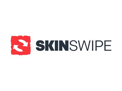 Logo SkinSwipe twitch csgo dota2 icons cybersport game typography app brand branding design uiux logo