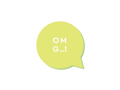 OMG..! Logo minimal flat design logo omg