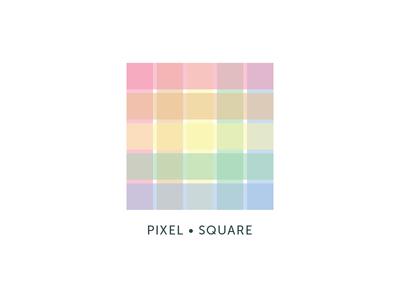 Pixel Square minimal flat pastel color colour fictional exploration logo square pixel