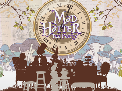 Mad Hatters Tea Party  mad hatter lewis carroll alice in wonderland school wall interior design classroom party tea hatters