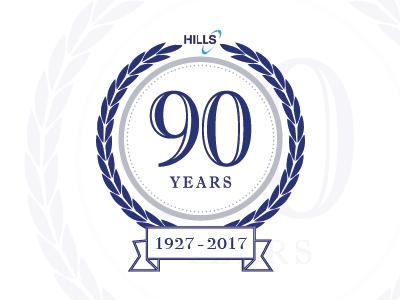 Hills 90th Emblem sign floral exhibition 1927 emblem company logo numberplates hills 90th