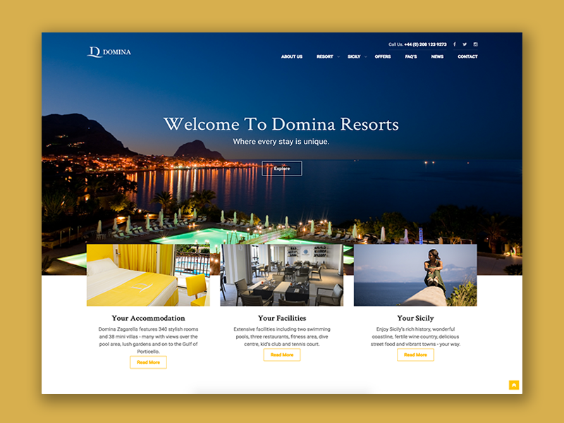 Domina resorts website