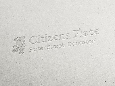 Citizen Place logo housing development contemporary flat design minimal creative football emblem build home house lion logo place citizen