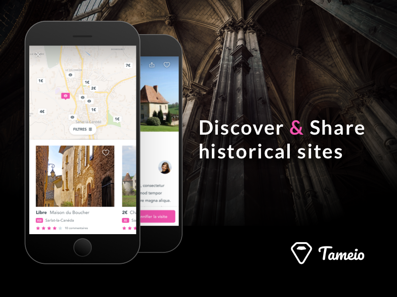 Tameio castle cards map iphone mobile monuments history