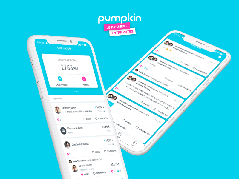 Pumpkin - Mobile App ios iphone pay banking bank application mobile