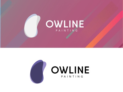 OWLINE PAINTING - Painting Brand logo paint colourful logo painting logo business logo branding logo design brand identity brand  business logo