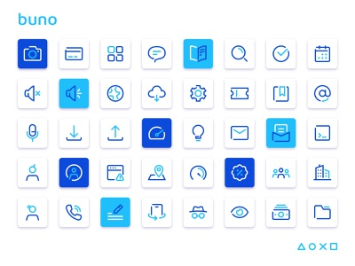 Buno icon collection user ticket team settings search incognito icons iconography icon design icon folder eye email cloud chat card call calendar buno account
