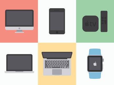 iconize flat: apple freebies