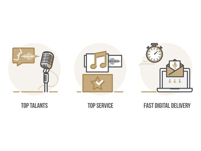 Professional VoiceOvers: How it works email record delivery microphone mic sound voiceover voice talent top service how it works