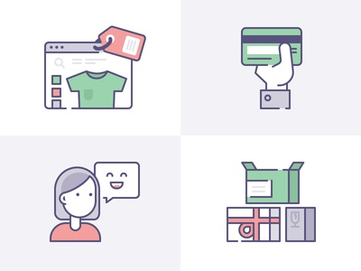Ecommerce Icons for IconFinder & Shopify collaboration
