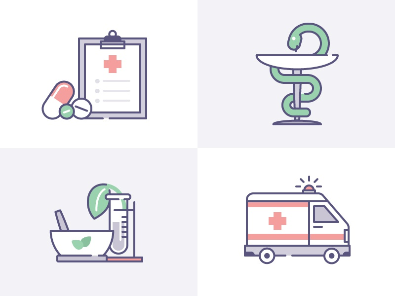 Healthcare pastel dribbble