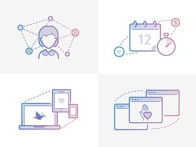 Causevox illustrations charity avatar calendar website donate donation responsive multipurpose end of year peer to peer social network community