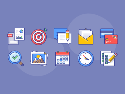 xomo: few basic icons for FREE magnifier clock moutain icon pencil feedback email pics documents aim free icons