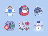 Xmas icons for Advent Calendar