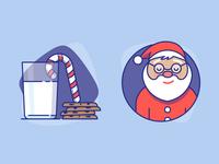 Santa + Cookies = Xmas Mood
