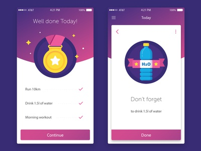 Sport Goals for Every Day :)  app screen ios achievement prize medal water icons freebies free badges sport
