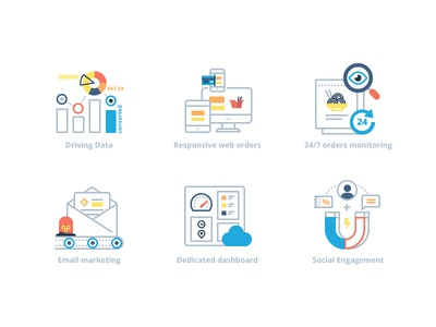 9Fold service: Feature icons