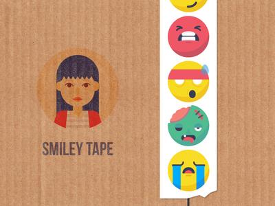 Smiley Tape: Sticker Mule custom tape