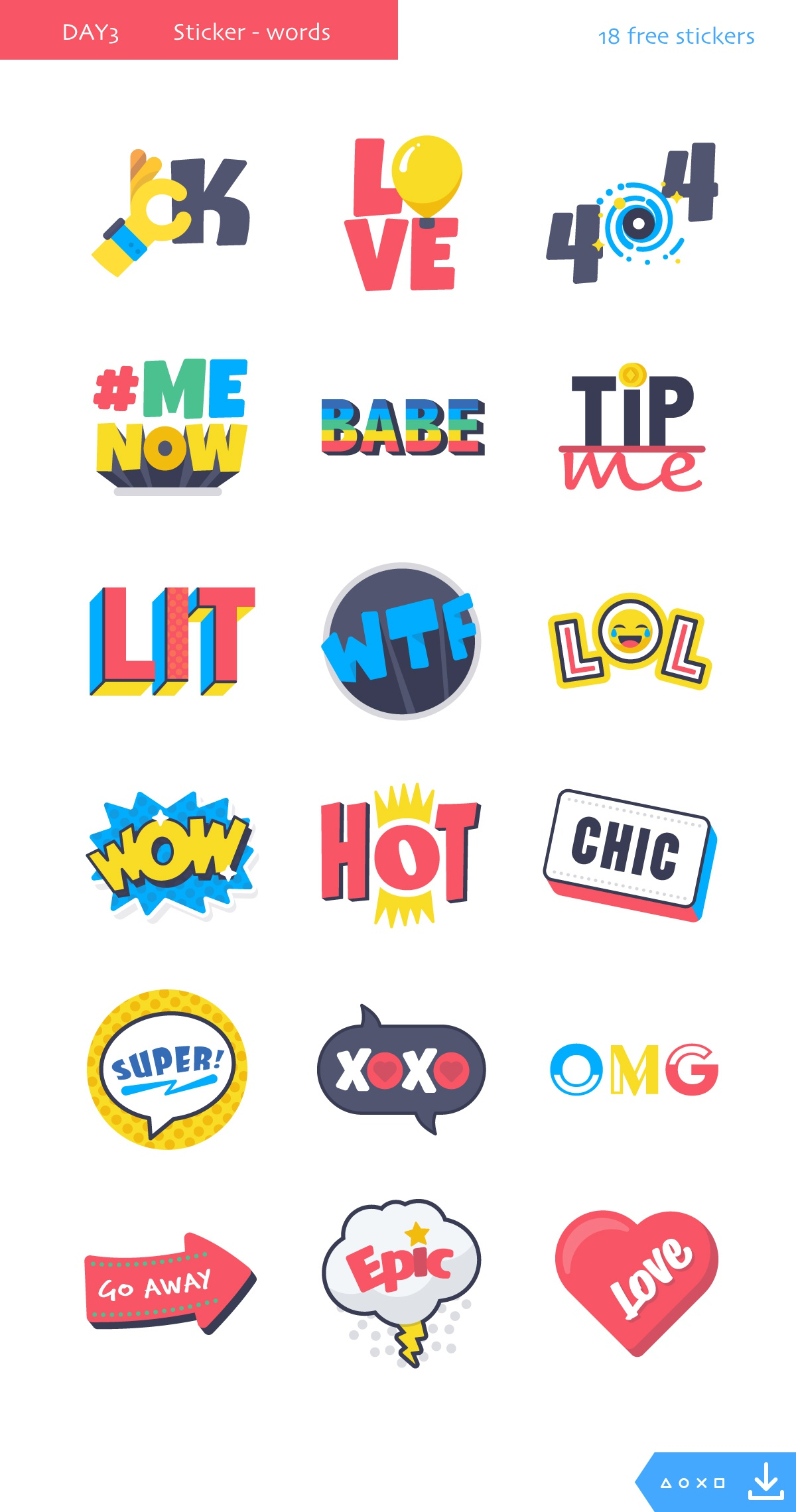 Day3 stickers words