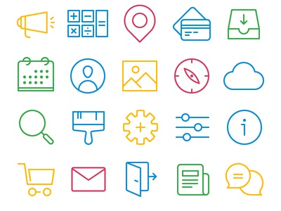Day4_freebies: Simple Lines pic save map file document ui seo finance us freebies free icons
