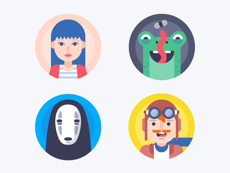 Avatars Some More Funny Faces By Laura Reen On Dribbble