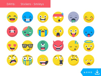 Day6_freebies: Stickers Smileys angel fun devil mem boss so cute lol love avatar faces smiley stickers