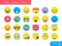 Day6_freebies: Stickers Smileys