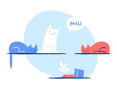 MAU: something went wrong? break pot plant wrong mau fun animal cats. flower cat