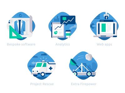 DataBlast category icons :) application web rescue ambulance blueprint project catapult analytics datablast