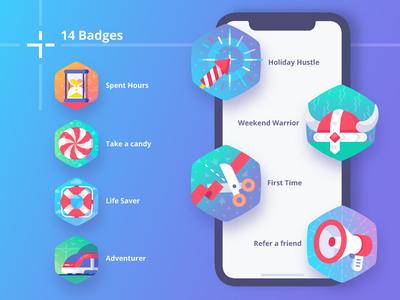 MedPeople Badge_____in progress.... candy medal trophy achievement application warrior megaphone lifesaver award badge badges