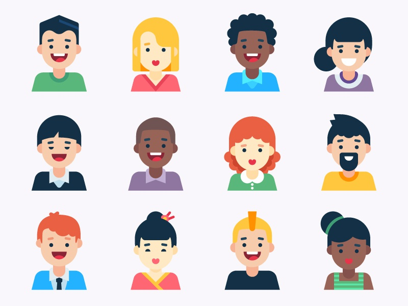 Super Generic Avatars by Laura Reen on Dribbble