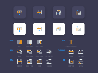 Building construction icons