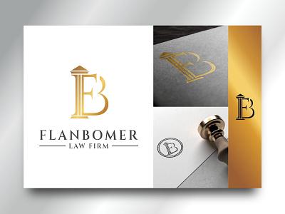 FLANBOMER LAW FIRM legal lawyer lawfirm law simple monograms monogramlogo monogram memorable logos logo design logo design branding brand