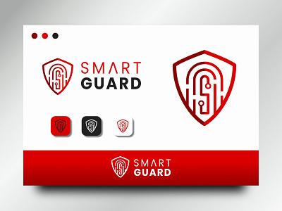 smart guard smart security logo sophisticated technology tech fingerprint guard simple clean memorable logos logo design logo design branding brand