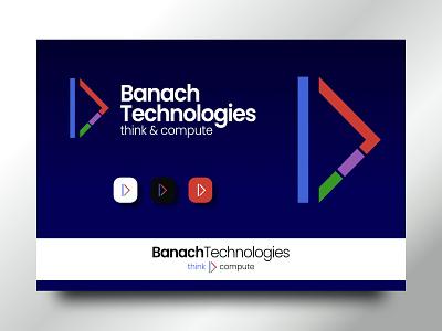 Banach Tech logos design memorable modern simple app web coding tech logodesign logo branding brand
