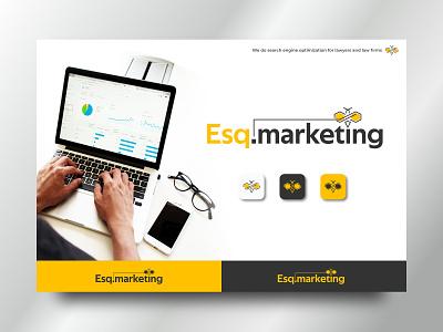 esq legal honig tech simple logo design design branding brand logos lawfirm lawyer bee logo firm app web law